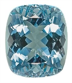 Aquamarine Loose Gemstone, Fine Strong Pure Blue Color, Cushion Cut, 13.7 x 11.6 mm, 7.68 Carats at BitCoin Gems
