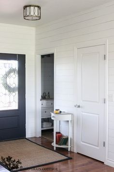 Planked Walls in the Entry - The Wood Grain Cottage
