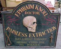 Antique surgery sign