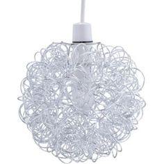 Habitat - Sophie Glass Pendant Light - White at Homebase -- Be ...:Living Scribble Aluminium Ball Ceiling Light Shade - Chrome. homebase. For  the kitchen,Lighting