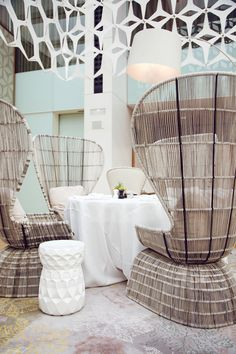 Want these chairs. Mandarin Oriental Hotel - Barcelona.