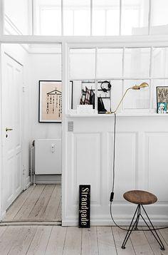 minimalist copenhagen home with glass window wall / sfgirlbybay