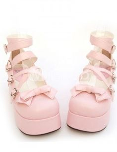 Kawaii pink heels look at this girl , very kawaii Pastel Fashion, Kawaii Fashion, Lolita Fashion, Cute Fashion, Fashion Shoes, Dr Shoes, Sock Shoes, Me Too Shoes, Shoe Boots