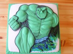 Hulk the green man cake   Flickr - Photo Sharing!