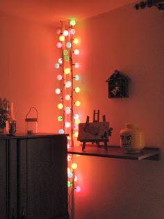 lampki choinkowe z piłeczek pingpongowych