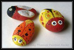 Brilliant Bugs painted rocks