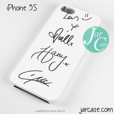 One Direction Signatures Phone case for iPhone 4/4s/5/5c/5s/6/6 plus