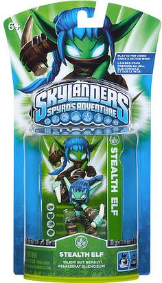 #ToysRus                  #Toys #Action Figures     #weapons #powers #generations #magical #frozen #skylanders #elf #alive #character #adventure #spy #stealth #world #pack           Skylanders Spyro's Adventure Character Pack - Stealth Elf                     Bring your Skylanders to life! Frozen in our world. Alive in Theirs.                                                                                                                 For Generations, the Skylanders have used their magical…