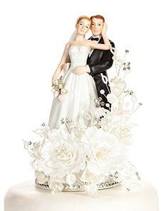 Vintage Elegant Rose Wedding Cake Topper