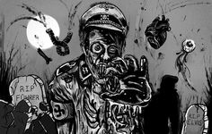 Zombie Hitler vs Neil Armstrong by Marie Vibbert, art by Jade Klara