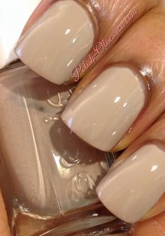 A neutral, creamy beige taupe that will be classy & elegant anytime. Love Nails, How To Do Nails, My Nails, Essie Nail Polish, Nail Polish Colors, Pretty Nail Colors, Pretty Nails, Essie Colors, Plain Nails