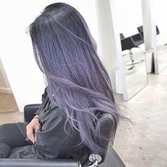 Dye my hair, dark pastel hair, gray purple hair, unique hair color, cool . Hair Color Purple, Hair Dye Colors, Cool Hair Color, Lavender Color, Lavender Hair, Ash Blue Hair, Pastel Hair Colors, Trendy Hair Colors, Pastel Style