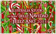 ¡Os deseamos unas Felices Fiestas y un Feliz Año 2013! Ilustralia Studio
