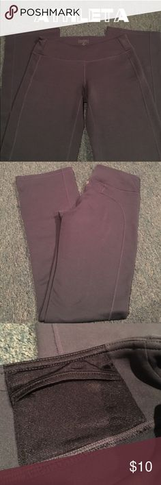 Athleta Workout / Yoga Pants Gray Athleta workout pants never worn like only worn once. Has convenient interior pocket. Size Small Tall Athleta Pants Boot Cut & Flare