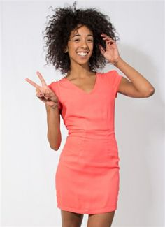 Neon Pink Dress with Lace Back #Pink #Coral #PinkDress #CoralDress #Buttons #Lace #LaceBack #MiniDress #Holidays #NewYearsEve #Party #PartyDress #LosAngeles #Downtown #Event #Wholesale #Style #Fashion #StylishWholesale