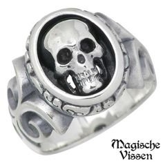 Silver ring / scull / ring /3 - 20 10P13oct13_b