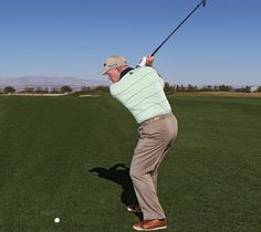 KEY MOVE: Don't go all out—take one more club on approaches and think 75 percent. Golf Room, Womens Golf Shirts, Golfer, Golf Instruction, Perfect Golf, Physical Condition, Golf Lessons, Short Article, Butches