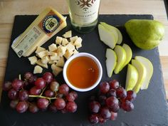 Try tasting our SarVecchio Parmesan with some fresh grapes, pears, honey, and a glass of Pinot Grigio!