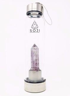 Amethyst Quartz Crystal Elixir Bottle