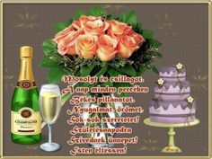 Születésnapra 2... Name Day, Ale, Place Cards, Christmas Gifts, Place Card Holders, Table Decorations, Google, Gift Ideas, Happy