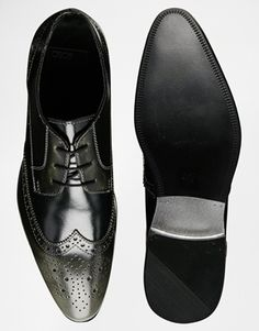 616bb0b39ad ASOS Brogue Shoes in Leather at asos.com