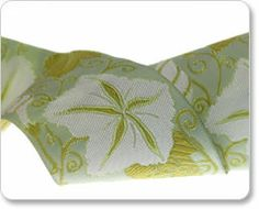 White and Green Moon Flower Ribbon - Laura Foster Nicholson
