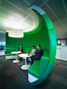 Lions Sydney Offices   Project Control Group -- A concave, sound-trapped working space that's open...nice.