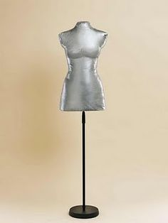 make your own dressform.  I thnk I'll do this--and cover it with a fun fabric so it's not duct tape.