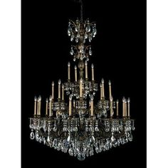 Schonbek Milano 28 Light Crystal Chandelier Finish: Antique Silver, Crystal Color: Strass Silver Shade