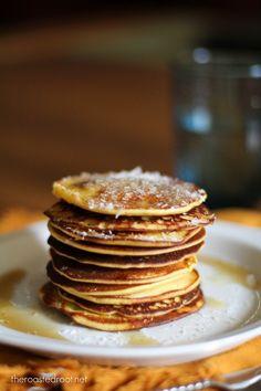 Piña Colada Pancakes (gluten free)  | www.theroastedroot.net