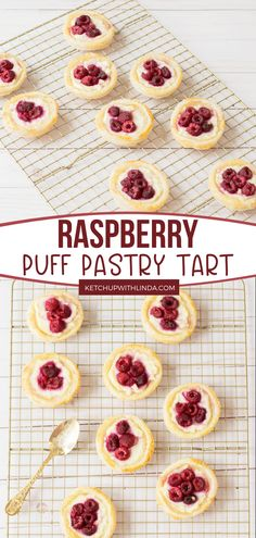 Raspberry Puff Pastry Tart is the best! This homemade puff pastry dessert is made with frozen puff pastry, ricotta cheese, frozen raspberries or raspberry jam, and other delicious ingredients. It's a crispy, buttery, flaky puff pastry tart perfect for summer! Save this pin!