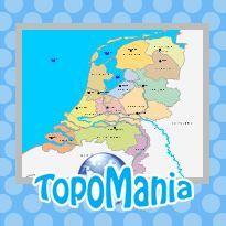 Oefen Topografie Provincies, hoofdsteden en wateren van Nederland met deze kaart op TopoMania.