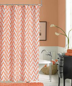 Another great find on #zulily! Coral Shower Curtain by Dainty Home #zulilyfinds