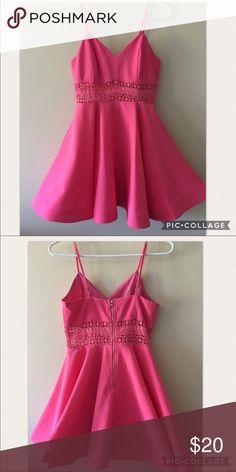 Mini dress Hot pink mini dress worn one time! Very cute!! Dresses Mini
