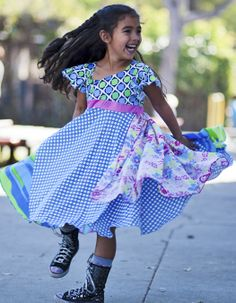 Beautiful girls skirts and dresses from TwirlyGirl. Behold the Day Dreaming Dress. $75 SHOP HERE.