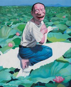 MINJUN YUE - LOTUS POOL http://www.widewalls.ch/artist/minjun-yue/ #print