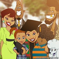 sositomaske: The Proud Family - Penny's Graduation <<< This is one of the best shows Disney ever did Black Love Art, Black Girl Art, Black Girl Magic, Art Girl, Black Girls, Black Cartoon Characters, Black Girl Cartoon, Cartoon Art, The Proud Family