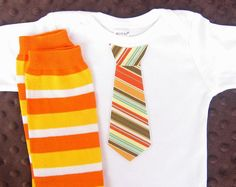 Baby Boy Thanksgiving Tie Onesie matching striped by WeChooseJoy, $22.50