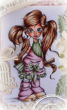 Bloghop Little Darlings Rubber Stamps