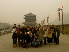 The EAS/FLLT in China group on the city wall of Xi'an