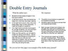 Double Entry Journal, Reading Difficulties, Comprehension, Literacy, No Response, Author, Student, Sayings, Lyrics