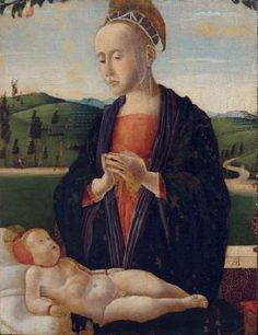 BENAGLIO, Francesco Virgin and Child  1480s Oil on panel, 38 x 30 cm Museo Correr, Venice  The Madonna clearly reveals a relationship with Central Italian painters, notably Piero della Francesca.