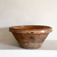 French Antique Tian - Antique Confit Bowl - Cassoulet Bowl - Antique Stoneware Bowl - Earthenware Bowl - Rustic French Country Kitchen Bowl