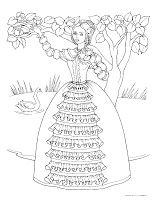 Southern belle pillowcase applique embroidery transfer for Southern belle coloring pages