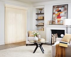 Blinds & Shades – Wide Window Solutions – Bali | Blinds & Shades – Vertical Blinds – Sheer Fabric - Bali