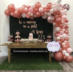 Be a unicorn, in a field of horses! Still over the moon excited about the first event at our newly launched event loft, Rose Gold Balloons, White Balloons, Latex Balloons, Gold Birthday Party, Gold Party, 75th Birthday, Birthday Ideas, Rose Gold Decor, Rose Gold Pink