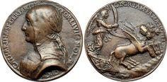 Forlì. Caterina Sforza Riario (1463-1509). Medaglia in bronzo.