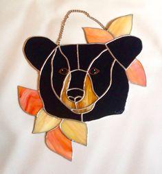 Stained glass suncatcher fall gift autumn by SunDogArtAndGlass