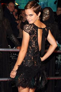 Emma Watson - I love all of the lace! It's so feminine and edgy.