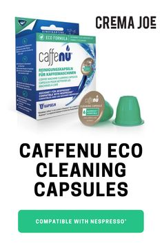 NEW CaffeNu Eco Formula Nespresso® compatible capsules.Unique foaming action removes residue and build up in just 2 food safe, non-hazardous and phosphate freeMade from biodegradable, natural and organic materialsWHAT YOU Nespresso Machine, Coffee Lover Gifts, Coffee Lovers, Cappuccino Machine, Italian Coffee, Blended Coffee, Eco Friendly House, Coffee Pods, Great Coffee